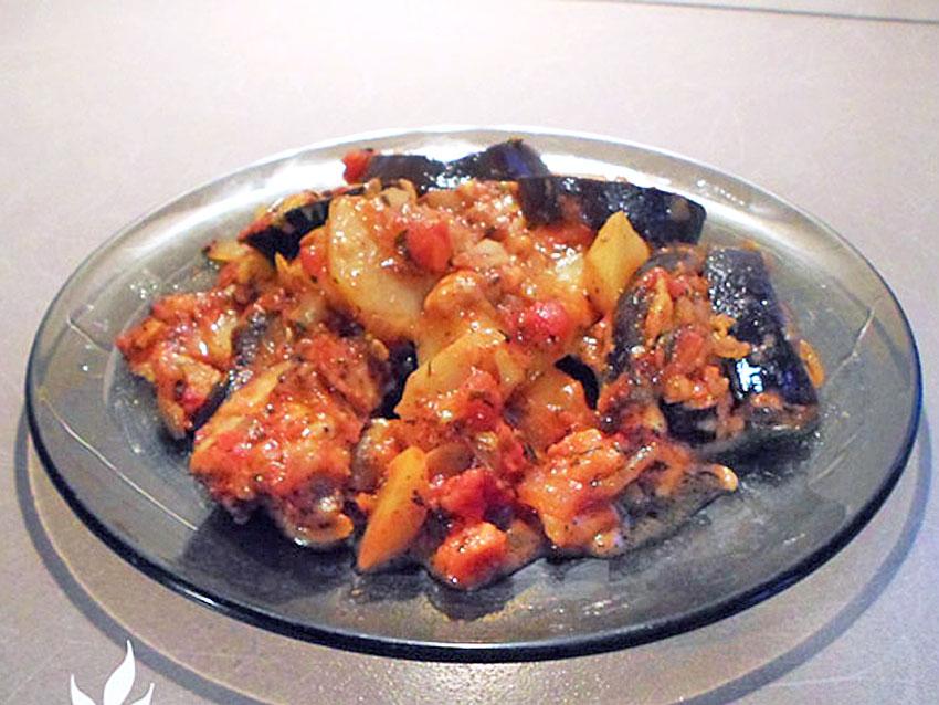 Zapiekanka z bakłażana i ziemniaków